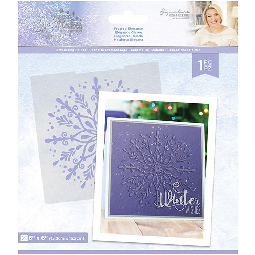 """Glittering Snowflakes Embossing Folder 6""""X6"""" by Crafter's Companion"""