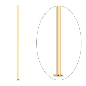 Gold Plated Head Pin - Pack of 100