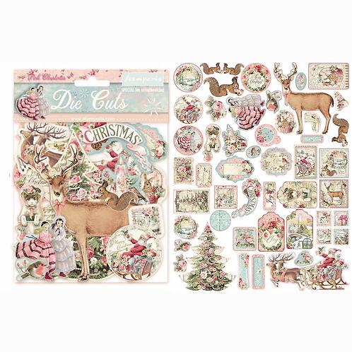 Stamperia® Die Cuts - Pink Christmas