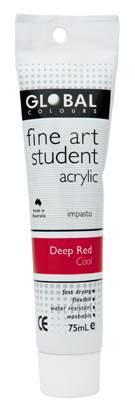 Global fine art student acrylic 75ml - Deep Red