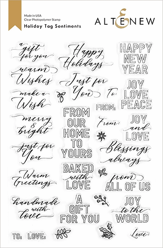 Holiday Tag Sentiments Stamp Set by Altenew®