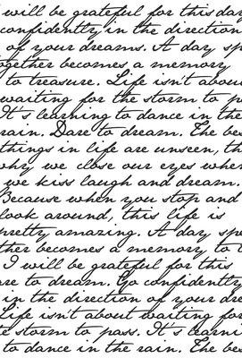 Kaisercraft® Clear Stamp - Script Background