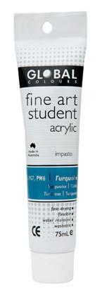 Global fine art student acrylic 75ml - Turquoise