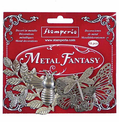 Stamperia - Metal fantasy selection Nature - 16 pieces