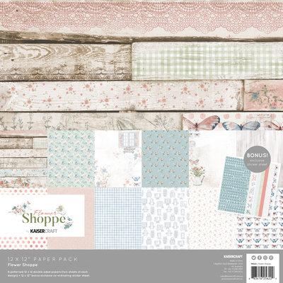 Kaisercraft® Flower Shoppe Paper Pack with Bonus Sticker Sheet