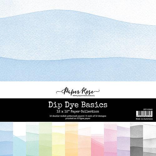 Paper Rose - 12 x 12 Paper Collection - Dip Dye Basics
