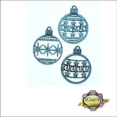 2Crafty Chipboard - Bauble Ornament Set