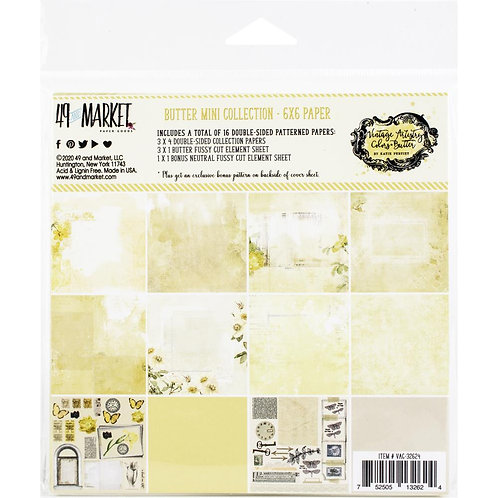 49 and Market® Vintage Artistry Mini Collection - Butter 6 x 6