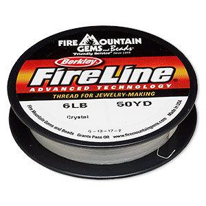 Thread, Berkley® FireLine®, gel-spun polyethylene, crystal, 0.15mm diameter