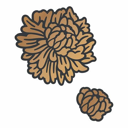 Cut and Create Die Set - Layered Zinnia - Carnation