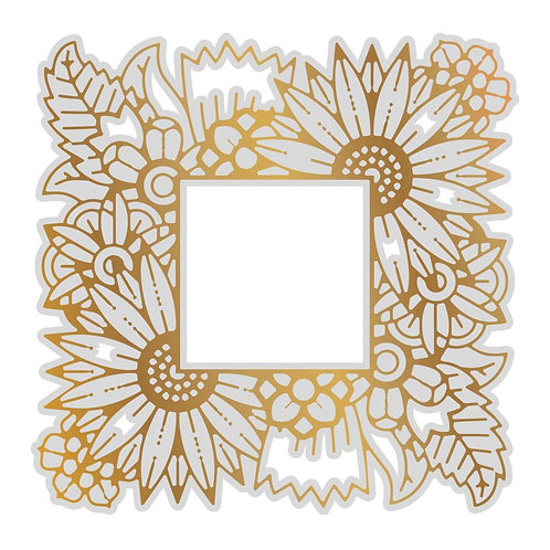 Cut, Foil and Emboss Die - Gentleman Crafter - Floral Frame Background