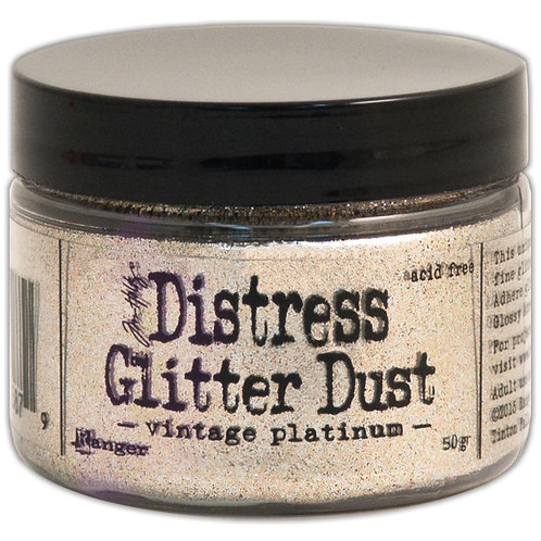 Tim Holtz® Distress Glitter Dust 50g - Vintage Platinum