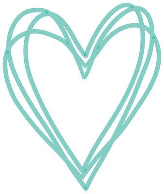 Kaisercraft® Decorative Die - Sketched Heart