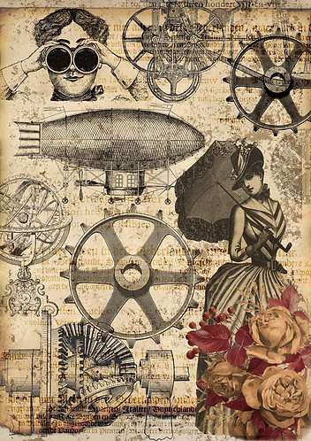 Decoupage Queen® Decoupage Paper - The Machine of Life