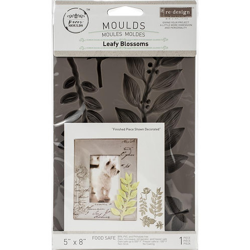 "Prima Marketing Re-Design Mould 5""X8""X8mm - Leafy Blossoms"