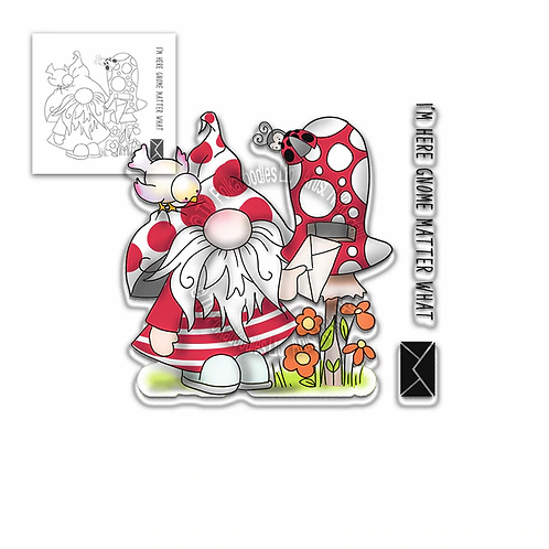 I'm Here Gnome Matter What stamp set by Polkadoodles®