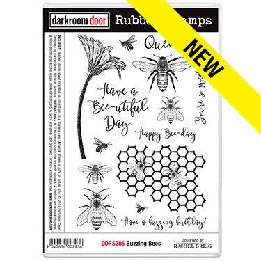 Darkroom Door Rubber Stamps - Buzzing Bees