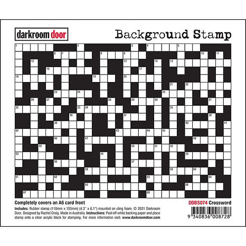 Darkroom Door Background Stamp - Crossword