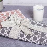 Cotton Linen Glitter Silver Ribbon 60mm x 10m