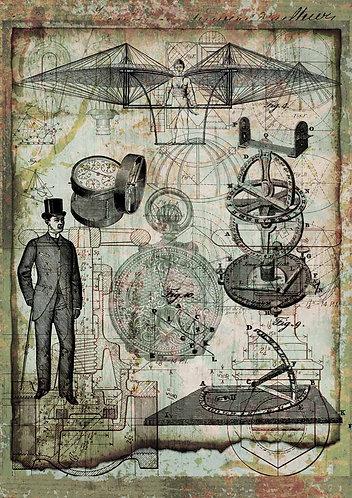Decoupage Queen® Decoupage Paper - Science & The Gentleman