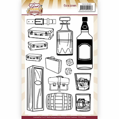Clear Stamps - Yvonne Creations - Good old days -  Whiskey