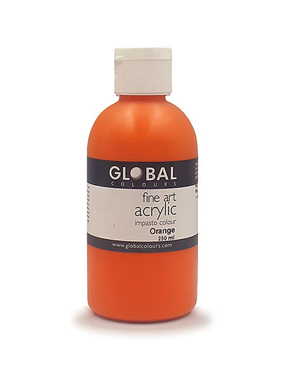 Global Artist Acrylic - Orange - 250ml