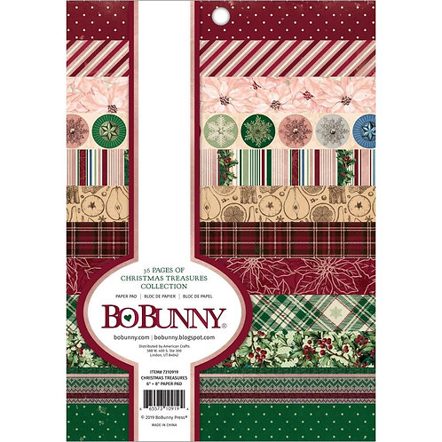 Bo Bunny® Christmas Treasures paper pad 6 x 8