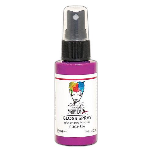 Dina Wakley Media Gloss Spray -Fuschia