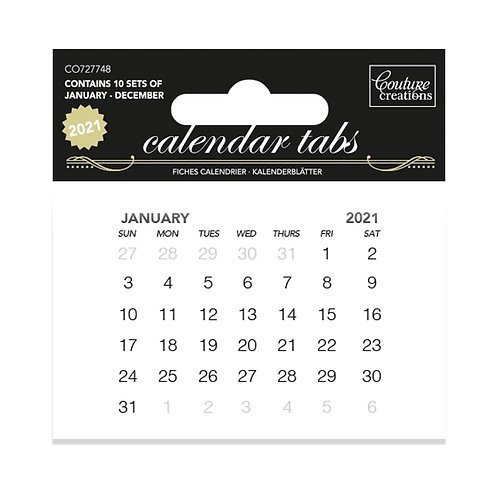 Couture Creations® 2021 Calendar Tabs
