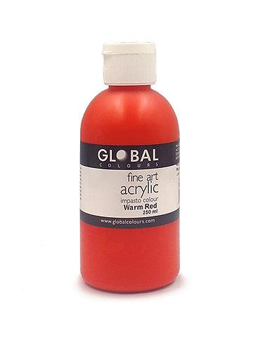 Global Artist Acrylic - Warm Red - 250ml