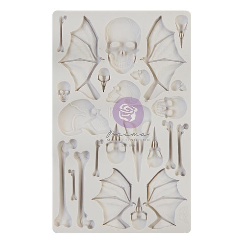 """Finnabair Decor Moulds 5""""X8"""" - Wings and Bones"""