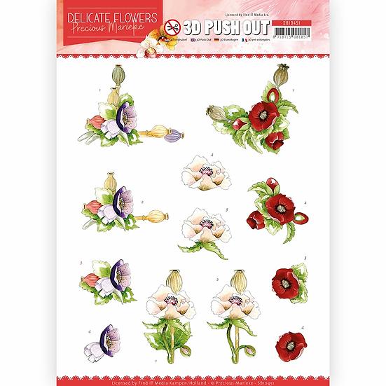 Precious Marieke® 3D Push Outs - Poppy