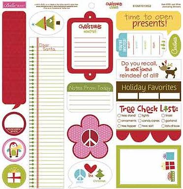 Bella Blvd® Chrismas Wishes - Just Write Stickers 12 x 12