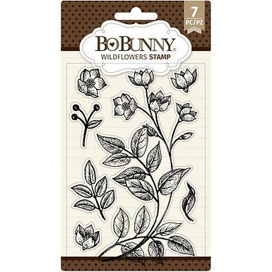 "BoBunny Clear Stamps 4""X6"" - Wildflowers"