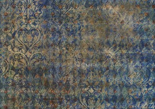 Decoupage Queen® Decoupage Paper - Blue Harlequin
