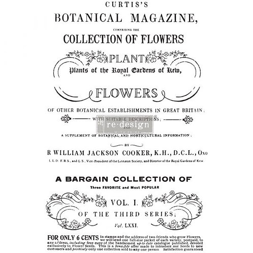 Redesign Décor Transfers® – Botanical Magazine size 24″x 34″