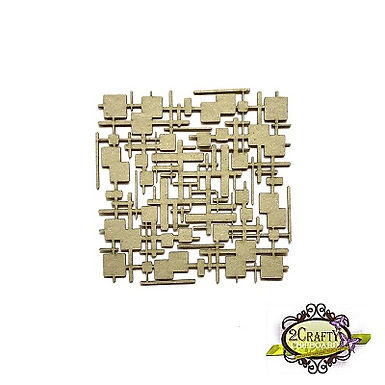 2Crafty Chipboard - Funky Lines Panel