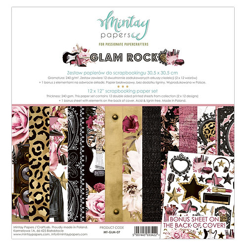 Glam Rock 12 x 12 Paper Collection by Mintay Papers