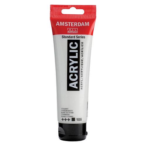 Amsterdam Acrylic Paint - 120ml - Titanium White