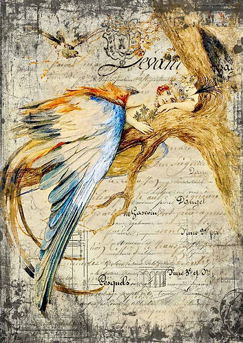 Decoupage Queen® Decoupage Paper - Bluebird Queen