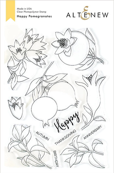 Altenew® Happy Pomegranates Stamp Set
