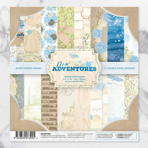 Couture Creations®New Adventures Paper Pack 6.5 x 6.5 in