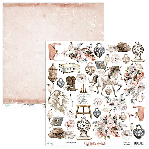 Florabella 12 x 12 Elements Paper by Mintay Papers