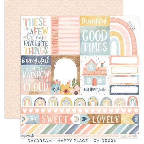 Cocoa Vanilla® Daydream - 12 x 12 Paper - Happy Place