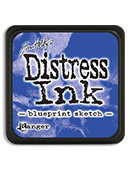 Tim Holtz® Mini Distress Ink Pad -blueprint sketch