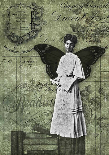 Decoupage Queen® Decoupage Paper - Reading Fairy