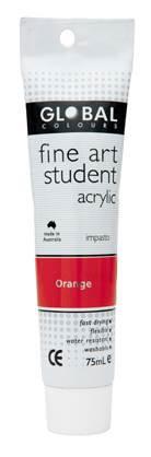 Global fine art student acrylic 75ml - Orange
