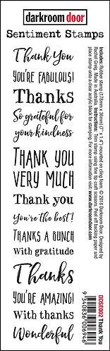 Darkroom Door Sentiment Stamp - Thank You