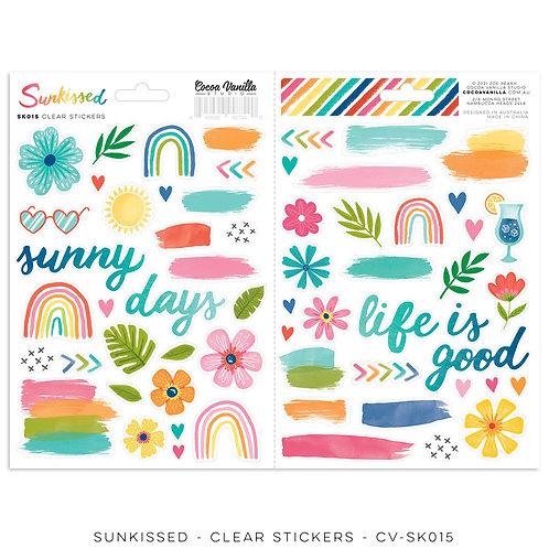 Cocoa Vanilla - Sunkissed - Clear Stickers