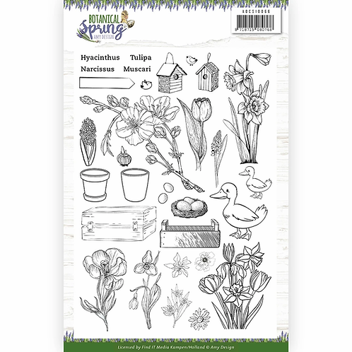 Botanical Spring by Amy Design® Clear Stamp Set
